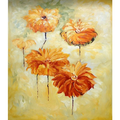 Floating Orange Flowers