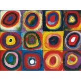 Kandinsky Farbstudie Quadrate