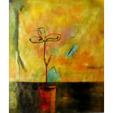 A Flower in a Vase Next to the Window