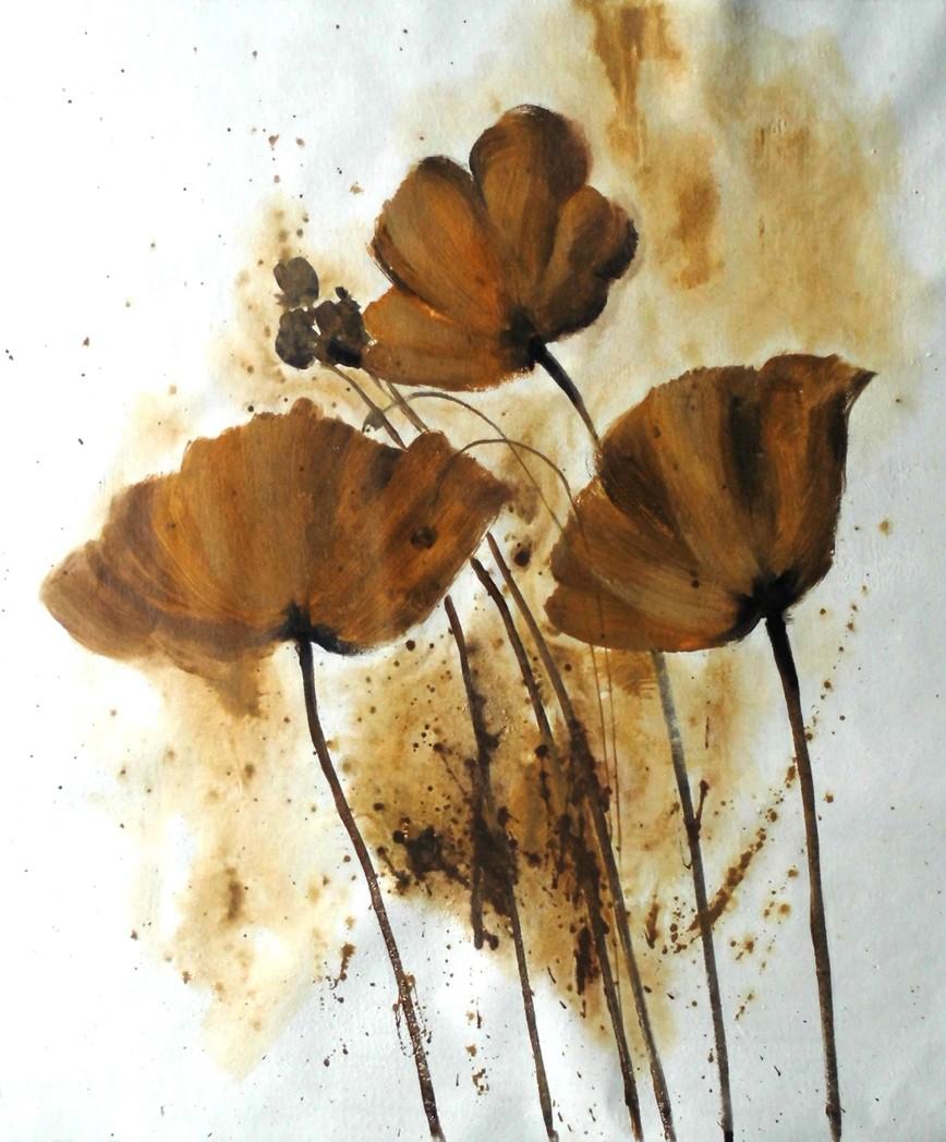Modern Oil Paintings Of Flowers